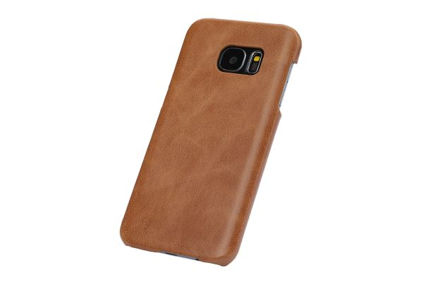 Samsung S7 echt lederen backcover beige