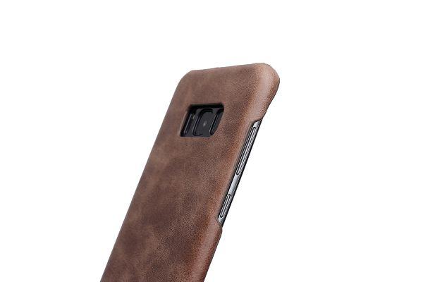 Samsung Galaxy S8 echt lederen back cover bruin