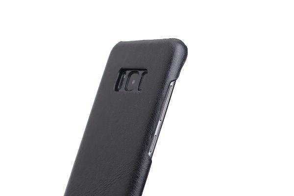 Samsung Galaxy S8 echt lederen back cover zwart