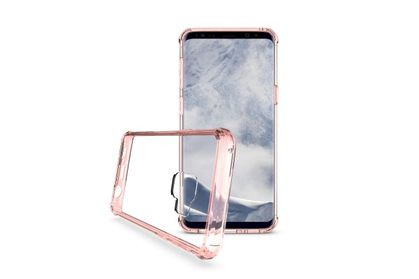 Samsung Galaxy S9 Back Cover rose goud Air Hybrid