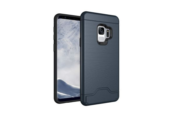 Samsung Galaxy S9 Back Cover Case Donker blauw