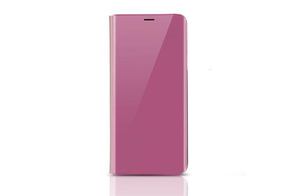 Samsung Galaxy S9 Clear View mirror case Rose goud