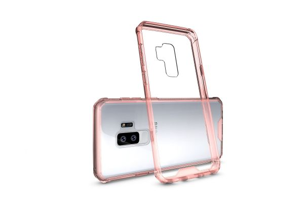 Samsung Galaxy S9 Plus Back cover Transparant Air Hybrid Rose goud