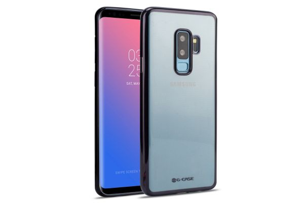 Samsung Galaxy S9 Plus Back cover TPU case Transparant Zwart