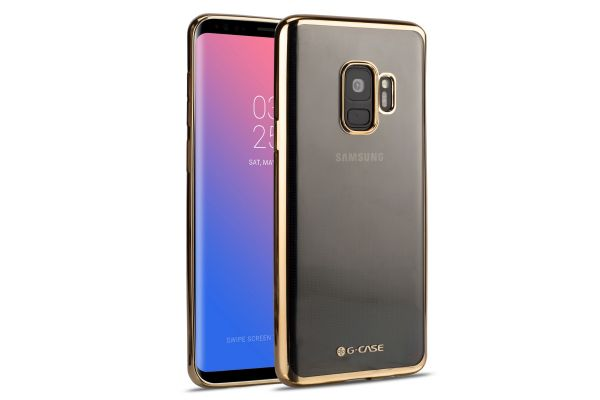 Samsung Galaxy S9 Back Cover TPU Case Transparant Gold