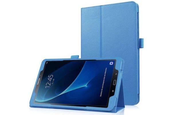 Samsung Tab A 10.1 PU leren hoes Book Cover lichtblauw