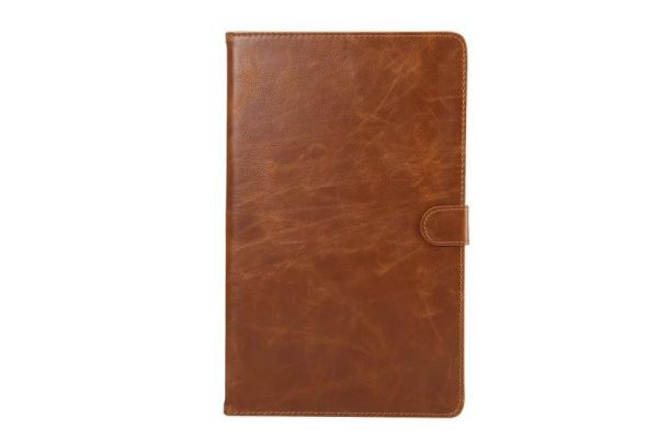 Samsung Tab A 10.1 INCH Book Cover Deluxe bruin