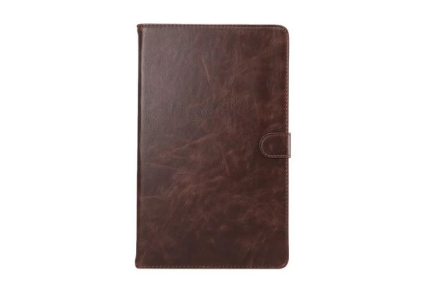 Samsung Tab A 10.1 INCH Book Cover Deluxe donker bruin