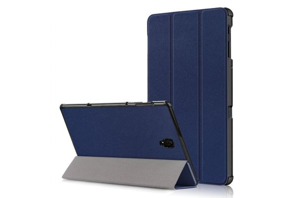 Samsung Tab A 10.5 inch heavy hard back book cover donker blauw