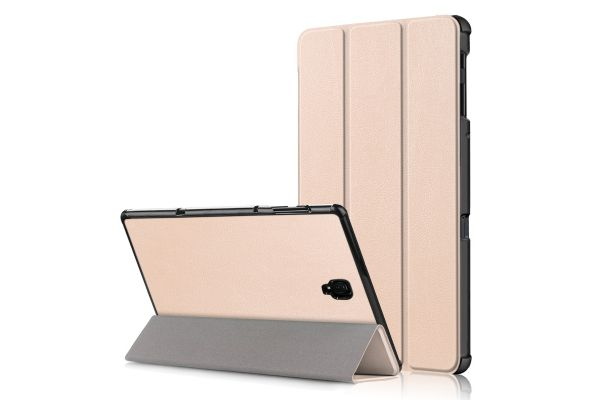 Samsung Tab A 10.5 inch heavy hard back book cover goud