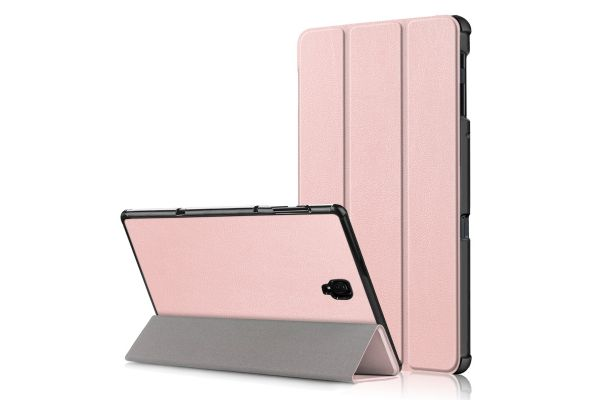 Samsung Tab A 10.5 inch hard Tri-Fold book cover Rose Goud