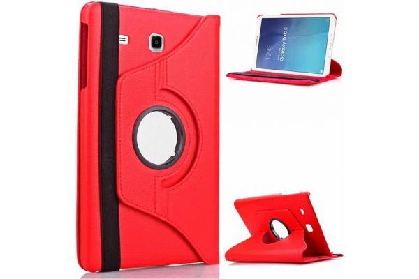 Tablet PU Leer Samsung Tab E 9.6 inch T560 Draaibare Hoes rood
