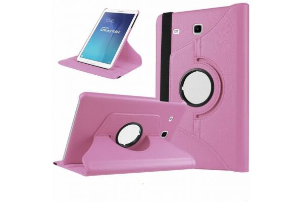 Samsung Galaxy Tab E 9.6 inch Draaibare Hoes Roze