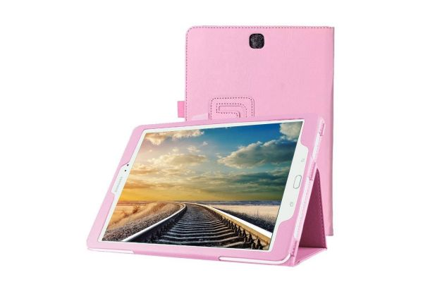 Samsung Galaxy Tab S2 9.7 hoes PU Leer Book Cover Roze