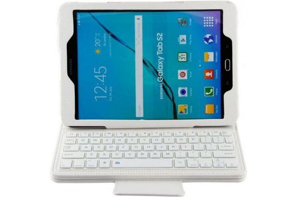 Samsung Galaxy Tab S2 9.7 hoes met toetsenbord Wit