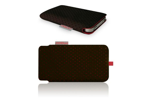 iPhone 3/4/4S Pouch van Redmaloo Nappaleer Chocolate