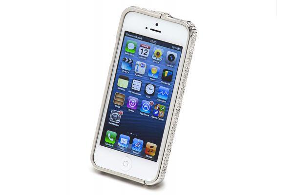 Bumper Case iPhone 4/ 4S Silver met Swarovski Crystals