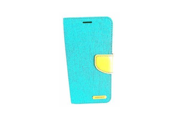 Samsung Galaxy S7 Edge spijkerstof portemonnee hoes met ruimte voor pasjes en brief geld groen