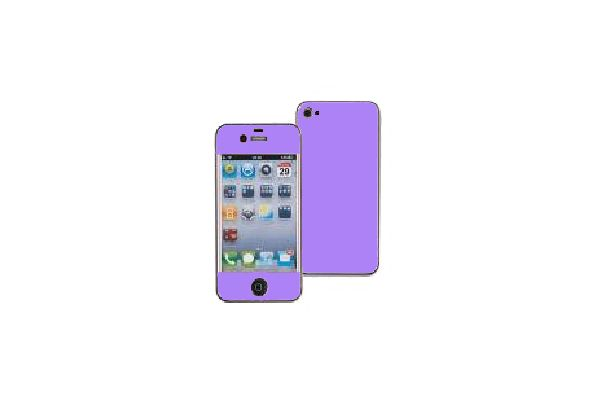 iPhone 4 / 4S Aluminium Stickers Paars