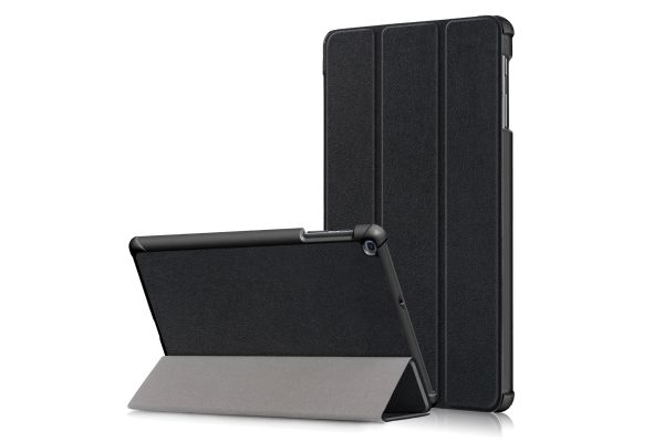 Samsung Tab A 10.1 2019 heavy hard back book cover zwart