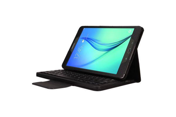 Samsung Tab A 9.7 inch Luxe hoes + Toetsenbord (harde toetsen) zwart T550 T555