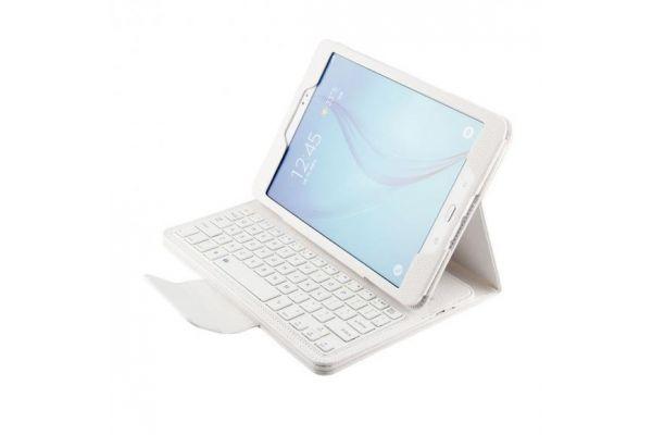 Samsung Galaxy Tab A 9.7 inch Luxe hoes + toetsenbord (harde toetsen) Wit