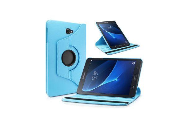 Samsung Tab A 10.1 PU leren Draaibare hoes licht blauw T580 T585