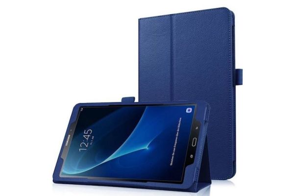 Samsung Tab A 10.1 PU leren hoes book cover blauw T580 T585