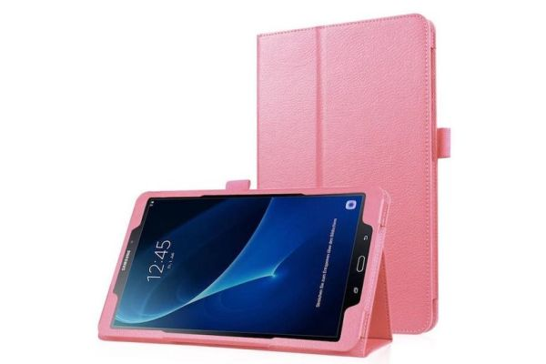 Samsung Tab A 10.1 PU leren hoes book cover roze T580 T585