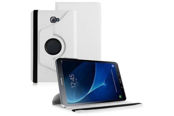 Samsung Galaxy Tab A 10.1 2016 PU leren Draaibare hoes Wit