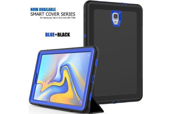 Samsung Galaxy Tab A 10.5 Bumper Case met Smart Cover Blauw