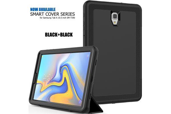 Samsung Galaxy Tab A 10.5 Bumper Case met Smart Cover Zwart