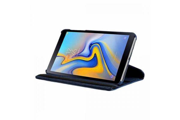 Samsung Galaxy Tab A 10.5 PU leren Draaibare hoes blauw