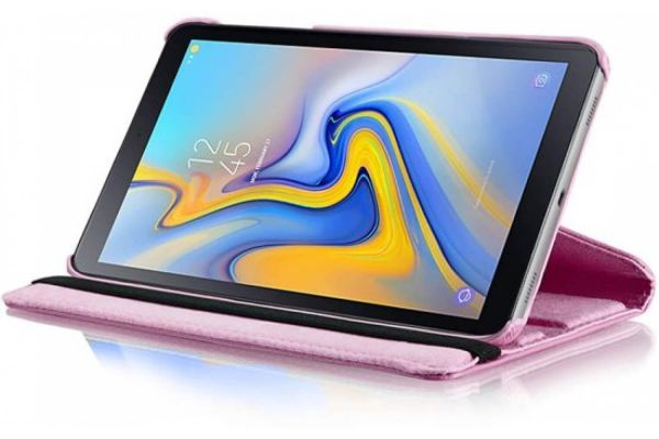 Samsung Galaxy Tab A 10.5 PU leren Draaibare hoes roze