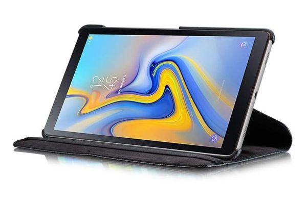 Samsung Galaxy Tab A 10.5 PU leren Draaibare hoes zwart