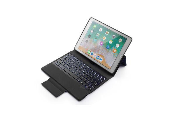 iPad 2018 9.7 inch hoes met vast toetsenbord ultra protection premium blauw