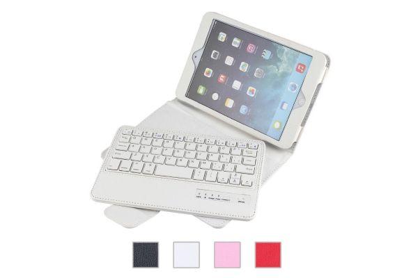 iPad Mini 4 Luxe hoes met draadloos toetsenbord Wit