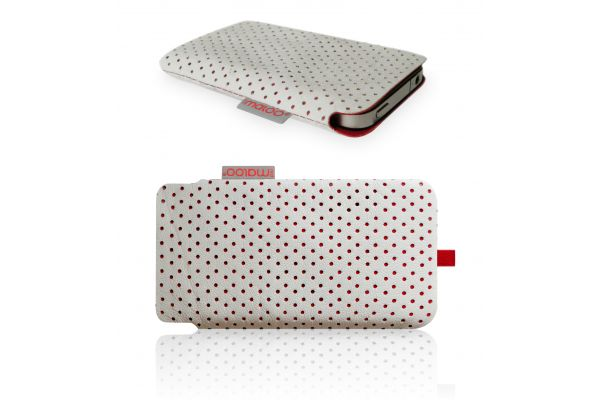 iPhone 3/4/4S Pouch van Redmaloo Nappaleer Wit