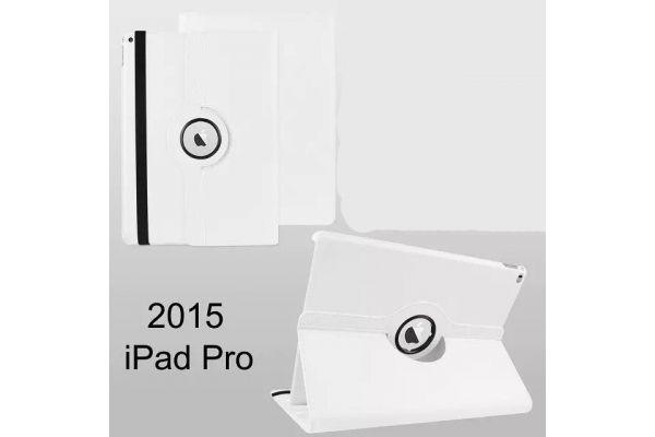 Tablet PU Leer iPad Pro 12.9 inch Draaibare Hoes Wit