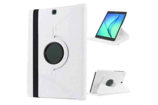 Tablet Samsung Tab S2 8.0 inch PU leer Draaibare Hoes wit