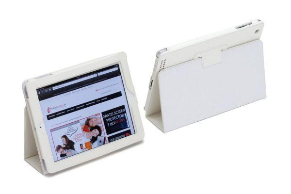 iPad Mini 1-2-3 PU leren Book Cover Wit
