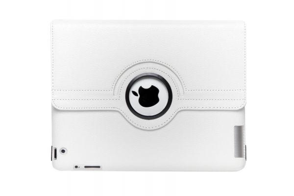 iPad 1-2-3 Mini Leren Draaibare Hoes Wit