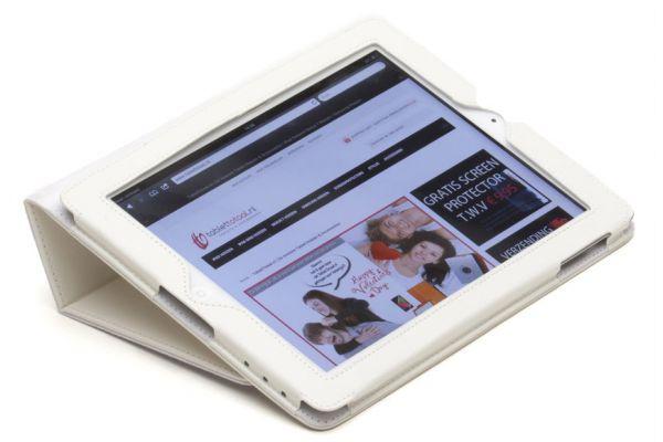 iPad Air 2 Book Cover PU leer Wit