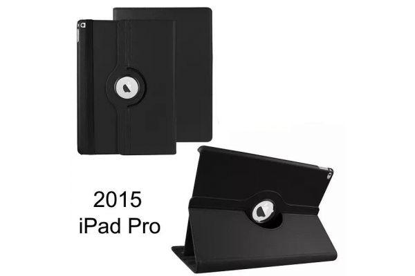 Tablet PU Leer iPad Pro 12.9 inch Draaibare Hoes Zwart