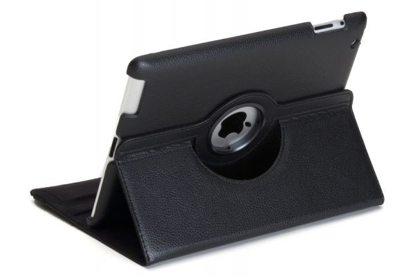 iPad Air 1 PU Leer Draaibare Hoes Zwart