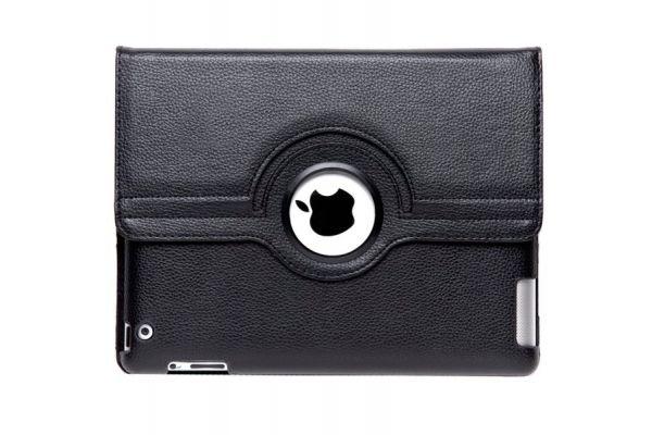 iPad Mini 1-2-3 PU Leren Draaibare Hoes Zwart