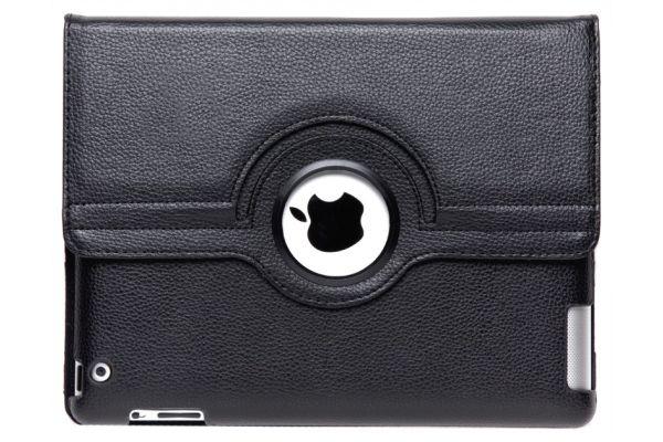 iPad 2-3-4 PU Leren Draaibare Hoes Zwart