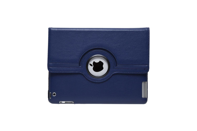 iPad 2-3-4 PU Leren Draaibare Hoes Navy