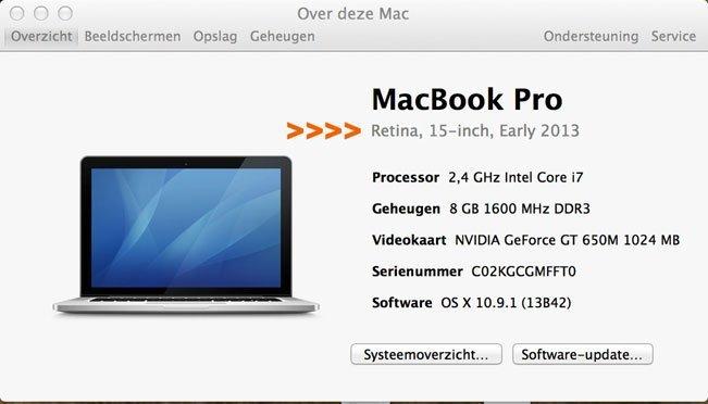 waar vind ik mijn type macbook